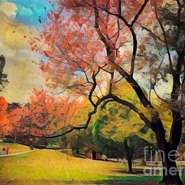 Autumn Escapade - Central Park in Fall by Miriam Danar