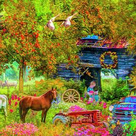 Autumn Garden on the Farm by Debra and Dave Vanderlaan