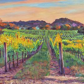 Autumn Harvest Napa Valley Vineyard by David Lloyd Glover
