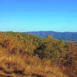 Autumn in Arkansas Skyline Drive by Judy Vincent