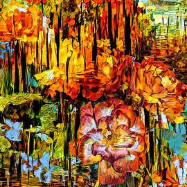 Autumn in the Rose Garden by Teresa Wilson