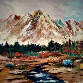 Autumn in the Valley Beneath the Mountains by Al Brown