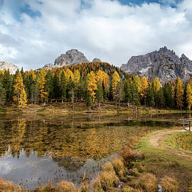 Autumn landscape with mountains and trees by Michalakis Ppalis