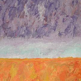 Autumn Marsh original painting by Sol Luckman