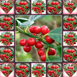 Rowan Berries Fancy Shapes Collage by Kathryn Jones