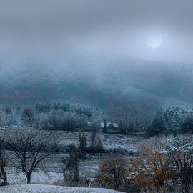 Autumn Moonlit Snow by Bill Wakeley