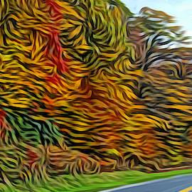 Autumn Mountain Road  by Ally White