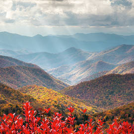 Autumn Mountains North Carolina Blue Ridge Parkway Asheville NC by Dave Allen