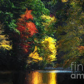 Autumn on the River by Mike Nellums
