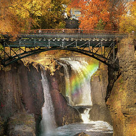 Autumn - Patterson NJ - The Great Patterson Falls  by Mike Savad
