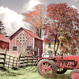 Autumn Reds on the Country Farm by Debra and Dave Vanderlaan