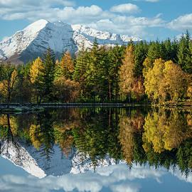 Autumn Reflection on Glencoe Lochan by Dave Bowman