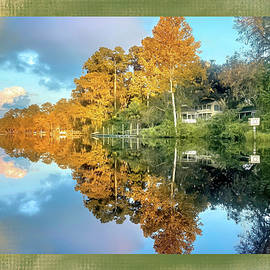 Autumn Reflections on the St Marys River by Donna Kennedy