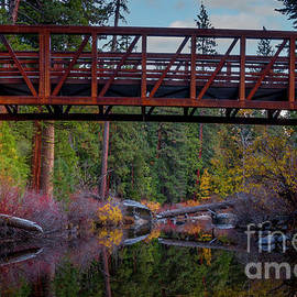 Autumn Reflections Silver Fork by Mitch Shindelbower