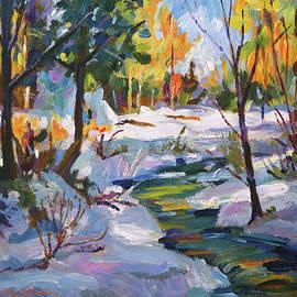 Autumn Snow Plein Air by David Lloyd Glover