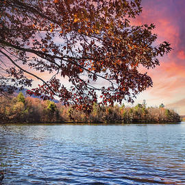 Autumn Trees at the Lake by Debra and Dave Vanderlaan