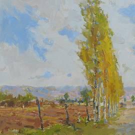 Autumn, trees by David Beglaryan