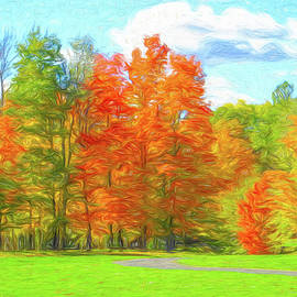 Autumn View from the Cart Path by Dennis Lundell