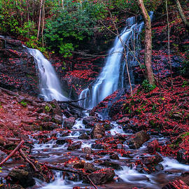 Autumn waterfalls #9559B by Bob Augsburg