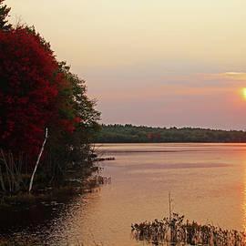 Autumn Sunrise On The Moon River by Debbie Oppermann