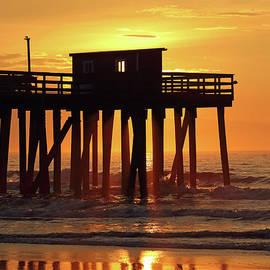 Avalon NJ Fishing Club Pier Sunrise by John Van Decker
