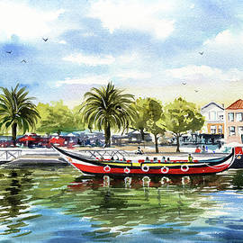 Aveiro Portugal Painting by Dora Hathazi Mendes