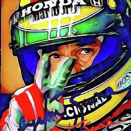 Ayrton Senna by Laurence Stefani
