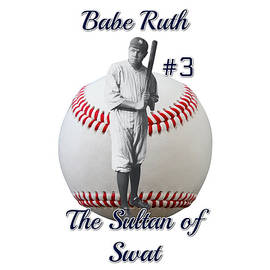 Babe Ruth The Sultan of Swat png by Joe Vella