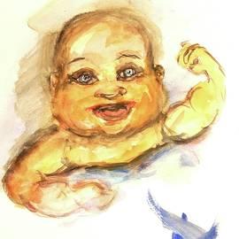 Baby Arnold Schwarzenegger by Debora Lewis