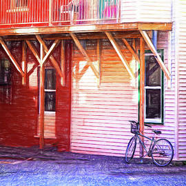 Backstreet and bike in Magog, Quebec by Tatiana Travelways