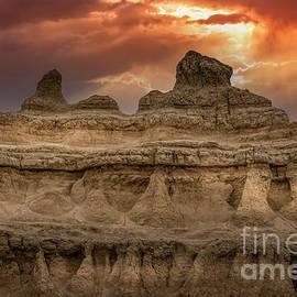 Badlands Sunset by Mitch Shindelbower