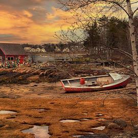 Bailey Island Maine Sunset- Mackerel Cove by Joann Vitali