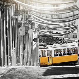 Bairro Alto Lisbon Portugal Fiesta Time Selective Color