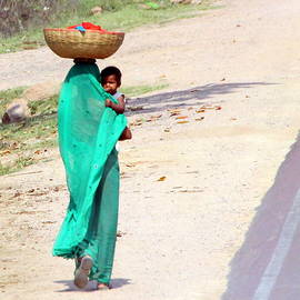 Balancing Act along the Road to Agra by Laurel Talabere