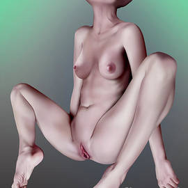 Bald Girl in Ecstacy - Graphic by Sean Jamieson