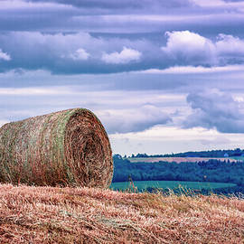 Bale of Hay in Annapolis Valley by Ken Morris