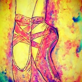 Ballet pointe shoe by Gugulethu Mabuza