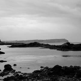 Ballintoy Coastline in Mono by Neil R Finlay