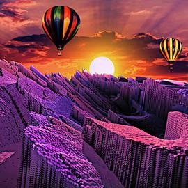 Balloon Adventure Above Paradise Isle by Artful Oasis