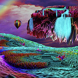 Balloon Adventure Over Neverend Isle by Artful Oasis