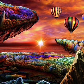Balloon Adventure Over Paradise by Artful Oasis