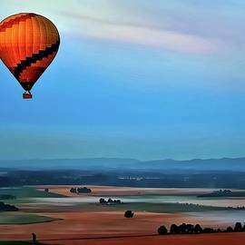 Balloon Over Wine Country by Michael R Anderson