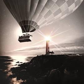Balloon Ride by KaFra Art