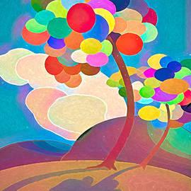 Balloon Trees of Autumn by John Haldane