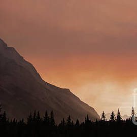 Banff Sunset Fire by Norma Brandsberg