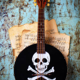Banjo With Skull And Cross Bones by Garry Gay