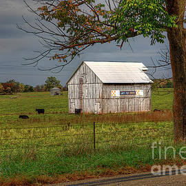 Barn along a country road.  by Larry Braun