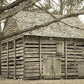 Barn at Hezekiah Alexander Homesite by Mary Ann Artz