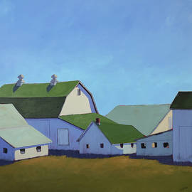 Barn Cluster by Carol C Young
