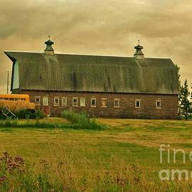 Barn Home for a Herd of Scottish Highlanders by Curtis Tilleraas